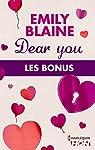 Dear You : les bonus de la série par Blaine