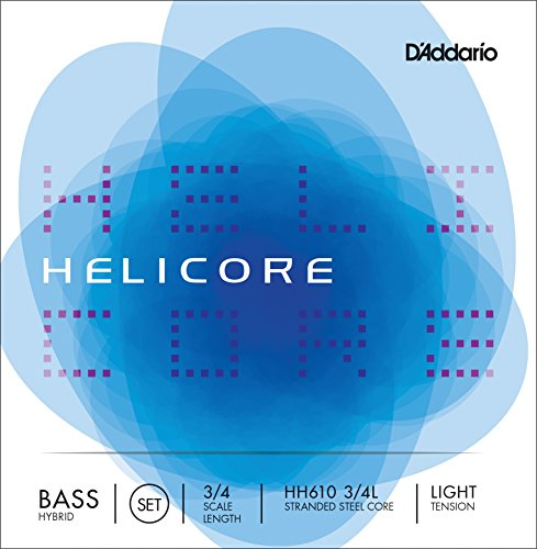 D'Addario Helicore Hybrid Bass String Set, 3/4 Scale, Light Tension - Parts Set Scale