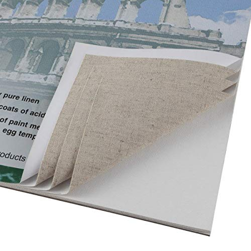 Centurion Linen Canvas 10 Sheet Pad 11x14'' 11oz Universal Acrylic Primed by Centurion
