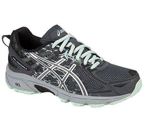 ASICS Women's Gel-Venture 6 Running-Shoes,Castlerock/Silver/Honeydew,8 D US