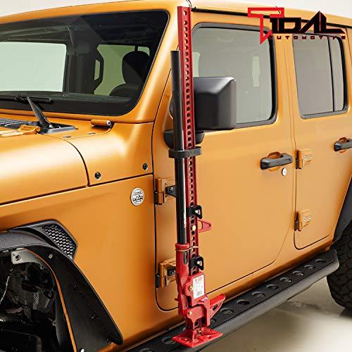 Tidal Hi Lift Jack Mount Hood Hinge/Door Hinge Bracket for 2007-2019 Jeep Wrangler JK -