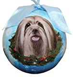 Lhasa Apso Christmas Ornament Shatter Proof Ball Easy To Personalize A Perfect Gift For Lhasa Apso Lovers