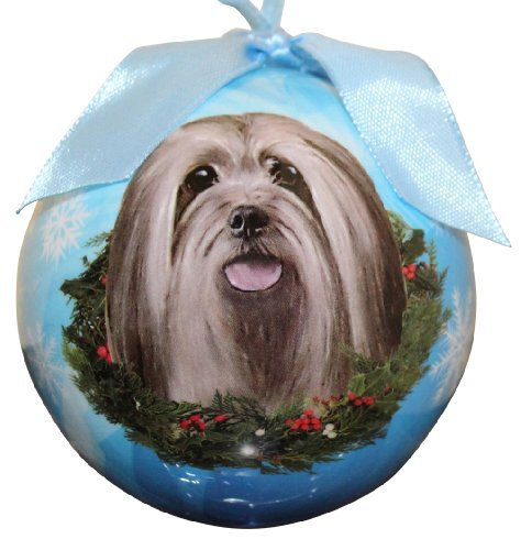 Lhasa Apso Christmas Ornament Shatter Proof Ball Easy To Personalize A Perfect Gift For Lhasa Apso (Easy Bear Costume)