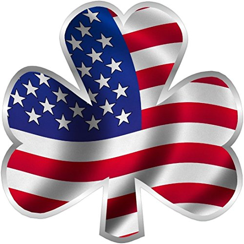 OLS Studios Magnet American Shamrock Decal Flag Lucky Irish USA US United Clover Vinyl Sticker VAR Magnetic Vinyl Sticks to Any Metal Fridge, car, Signs ()