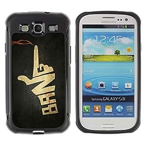 Suave TPU GEL Carcasa Funda Silicona Blando Estuche Caso de protección (para) Samsung Galaxy S3 III I9300 / CECELL Phone case / / Stylistic Bang Gun Crime Text /