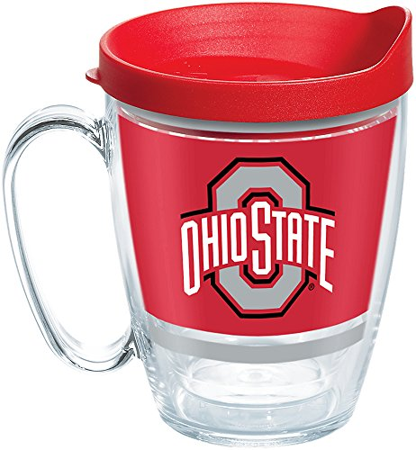 Tervis 1257594 NCAA Ohio State Buckeyes Legend Coffee Mug, 16 oz, Clear
