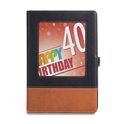 Thick Notebook,40th Birthday Decorations,A5(6.1