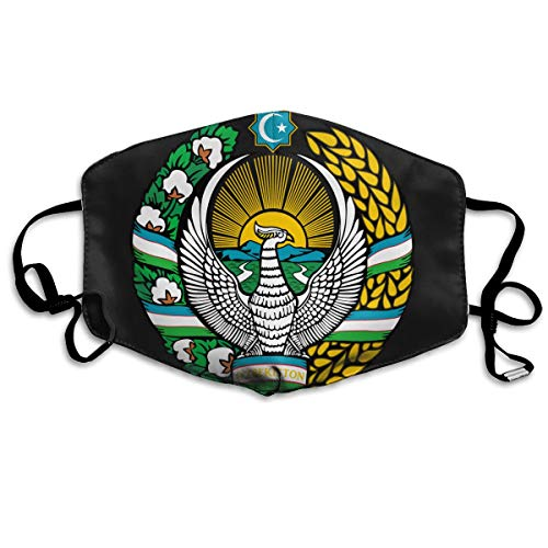 - SDQQ6 Coat of Arms of Uzbekistan Mouth Mask Unisex Printed Fashion Face Mask Anti-dust Masks