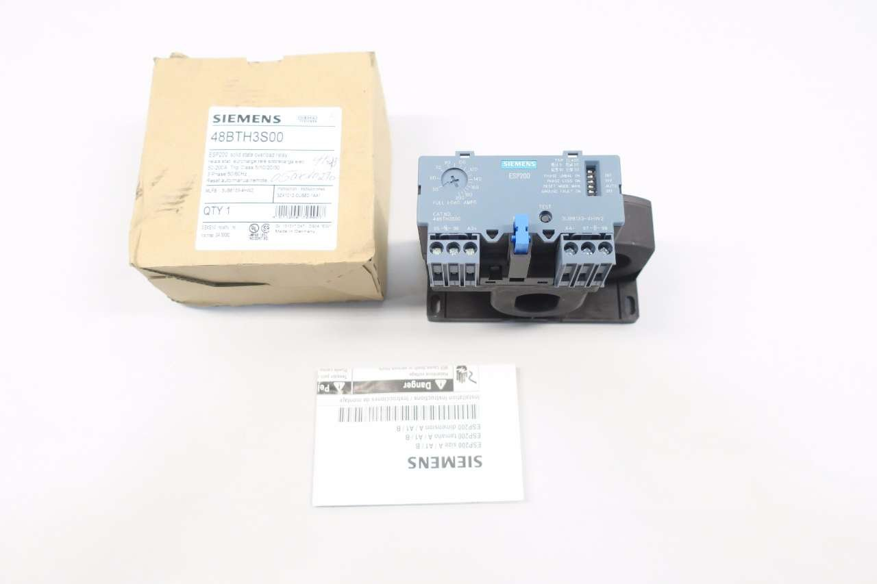 NEW SIEMENS 48BTH3S00 50-200A AMP OVERLOAD RELAY D554128