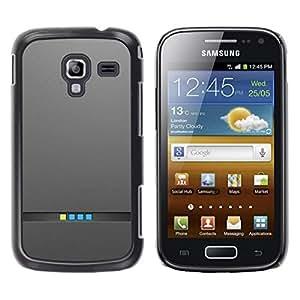 Be Good Phone Accessory // Dura Cáscara cubierta Protectora Caso Carcasa Funda de Protección para Samsung Galaxy Ace 2 I8160 Ace II X S7560M // Computer Minimalist Lights Metal Brush