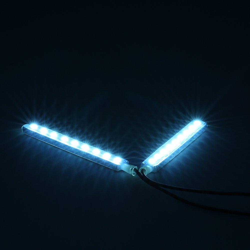 KKmoon 2 en 1 Luz de Atm/ósfera 18 LED L/ámpara Barra Decoraci/ón Rom/ántico Interior para Coche Auto Lamp Kit 12V