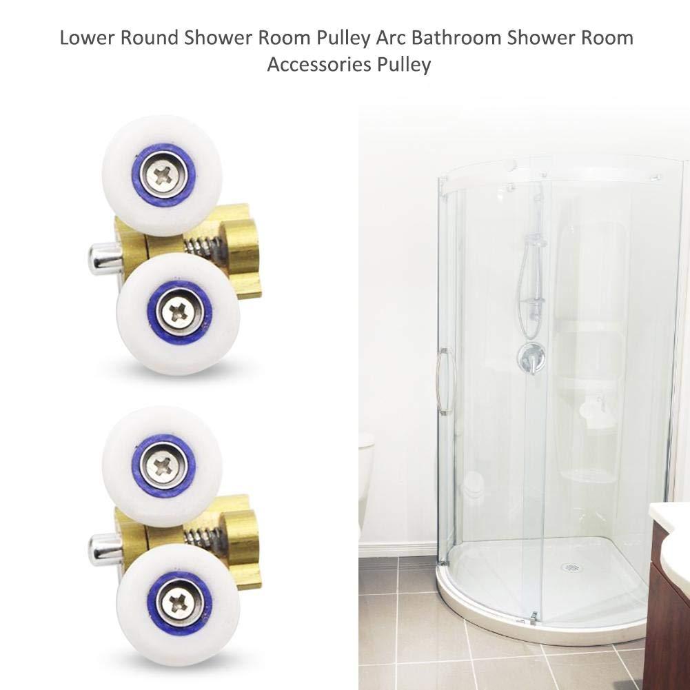 Doccia Porta a rullino Porta da bagno in vetro scorrevole Porta a sospensione Doccia Accessori per la camera Puleggia inferiore rotonda doccia