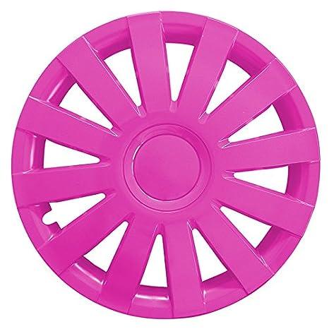 Gr/ö/ße w/ählbar Radzierblenden AGAT Pink passend f/ür fast alle Fahrzeugtypen 15 Zoll Radkappen universal
