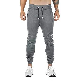 Sunnywill - Pantalones de deporte largos para hombre, para ...