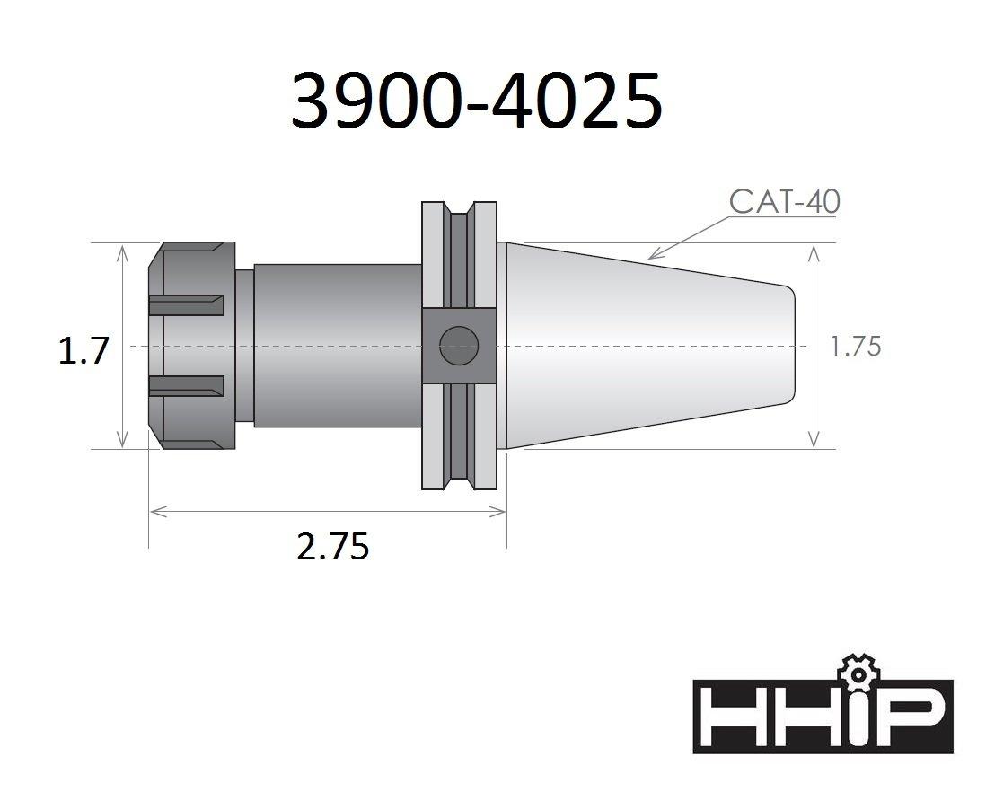 HHIP 3900-0507 ER-32 R8 Spring Collet Chuck Set 8-Piece