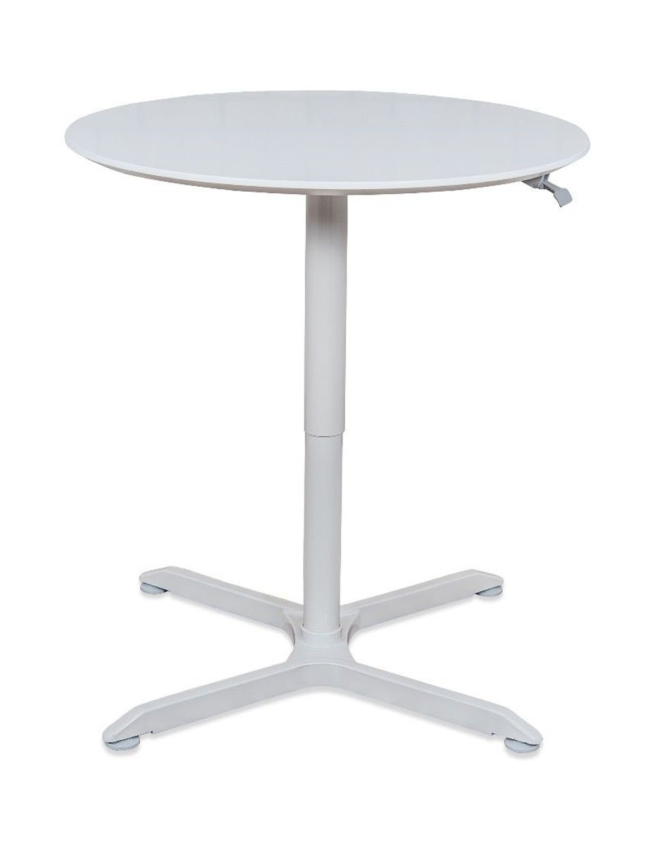 Luxor 36'' Pneumatic Height Adjustable Round Cafe Table - Gray