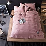 Sheets quilt Simple Home textile bed linings Washed Cotton Four-piece set Can not afford the ball Exquisite soft Comfortable ( Color : F , Size : 220240cm )