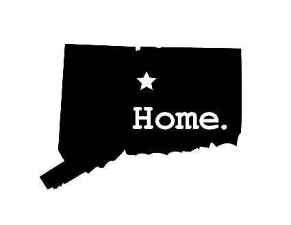 Amazon Com Jb Print Connecticut Home Vinyl Decal Sticker