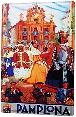 LEotiE SINCE 2004 Cartel Letrero de Chapa XXL Viaje Cocina Pamplona España Música: Amazon.es: Hogar