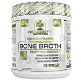 Bone Broth Protein Powder - Natural & Pure Paleo/Keto Friendly Gluten Free - Grass Fed Pasture Raised Non GMO - Premium Gut Health Nutrition High Quality Collagen F/Skin 22 servings 17.3oz Best Value