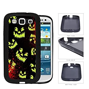 Halloween Scary Face Glow And Blood Splatter Rubber Silicone TPU Cell Phone Case Samsung Galaxy S3 SIII I9300