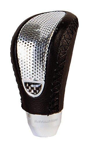 Bottari 17407/Schaltknauf aus Kunstleder schwarz//Einlage grau silber universal
