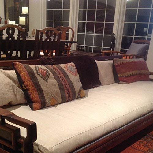 Wool Bench Cushion/Washable Cover/Fits Ikea Kallax/Custom Sizes, Shapes & Fabrics Available