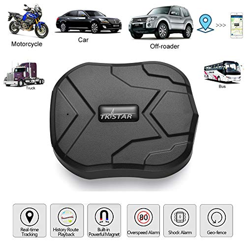 ith Strong Magnet for Car/Vehicle/Van Truck Fleet Management GPS Locator Realtime Accurate Location Device Waterproof 90 Days Long Standby Remove Alarm Free Tracking Platform TK905 ()