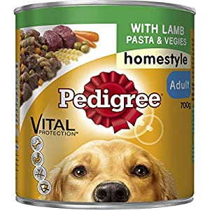 Pedigree Homestyle with Lamb Pasta & Veggies Wet Dog Food Can 700g Click on image for further info.