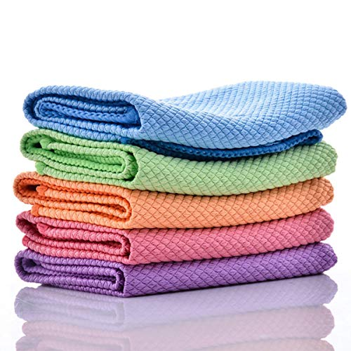 MSECVOI Microfiber Cleaning Dish Cloths for Washing Dishes