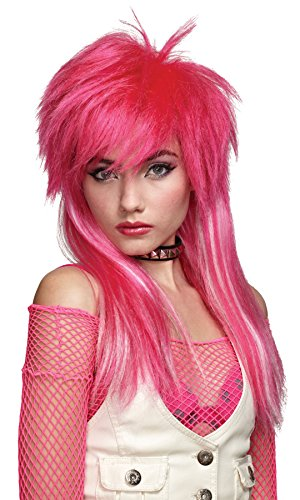 Mario Chiodo Women's White Glam Rocker Wig Adult Halloween Costume Accessory for $<!--$19.95-->