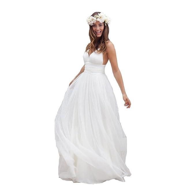 ABaoWedding las mujeres una línea largo tul playa boda novia noche vestido fiesta baile vestidos Beige