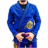 Kimono Jiu Jitsu Revolução Intheguard Trançado Bjj Rip Stop - Azul