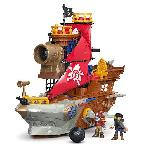 Fisher-Price Imaginext Shark Bite Pirate Ship Playset by MEE TONG SHOP
