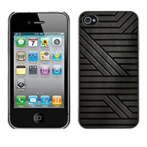 LASTONE PHONE CASE / Carcasa Funda Prima Delgada SLIM Casa Carcasa Funda Case Bandera Cover Armor Shell para Apple Iphone 4 / 4S / Cool Grey Pattern Stripes Sci-Fi