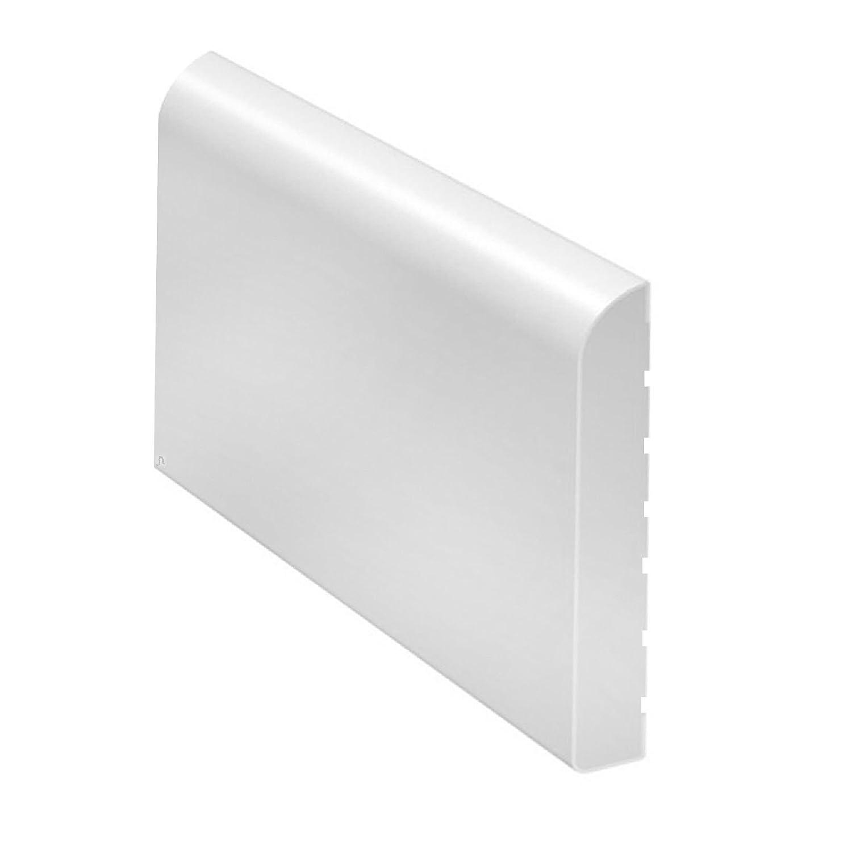 White 65mm Wide Bullnose Window Door Trim / Skirting Upvc Plastic x 5 Metres Home Smart