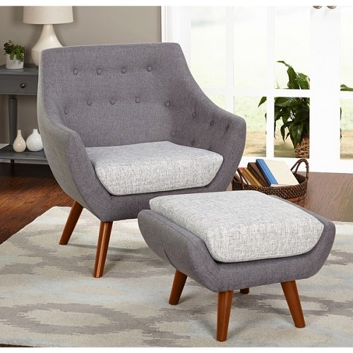 Simple Living Elijah Chair and Ottoman Set by Simple Living