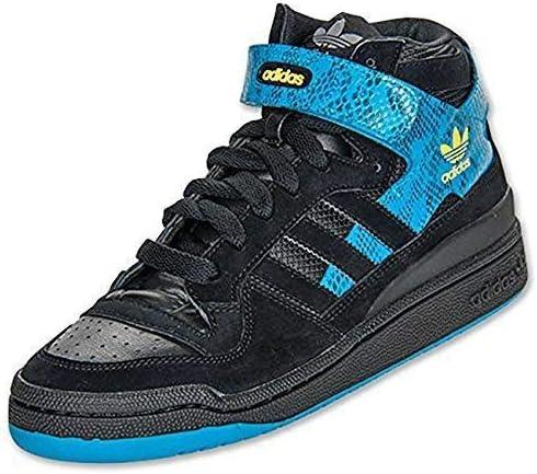 ADIDAS Forum Mid Zapatillas Deportivas Trainers Cuero Negro - Negro/Azul, 43 1/3: Amazon.es: Zapatos y complementos