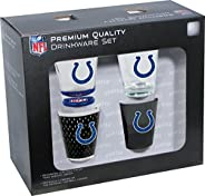 Hunter Manufacturing NFL Indianapolis Colts Shot Glass Collector Set (4-Piece), 2-Ounce, Clear
