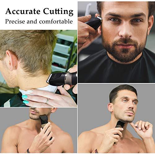 ICETEK Hair Clipper, Mens Beard Trimmer Cordless Hair Trimmer for Men Hair Cutting Kit Men\'s Grooming Kit Rechargeable with LED Display
