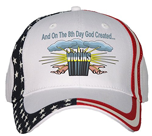 And On The 8th Day God Created Violins USA Flag Hat Cap