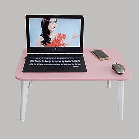 SBWYLT-Mesa de Ordenador portátil Elegante Minimalista Cama con Temperatura Alta Mesa Plegable