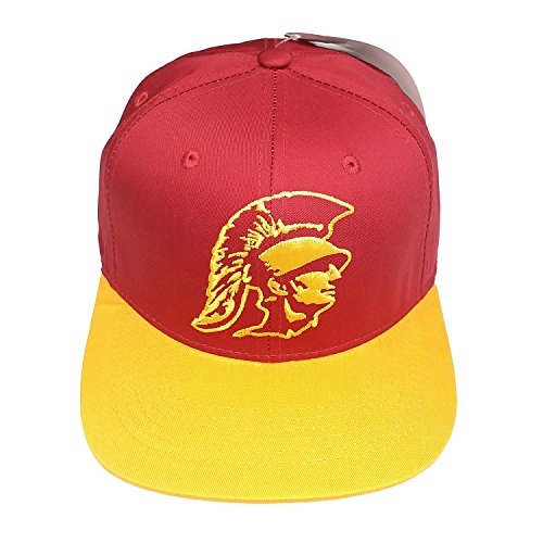 NCAA USC Trojans Logo Burgundy 2 Tone Snapback Cap Retro Old School Hat Usc Trojans Cap