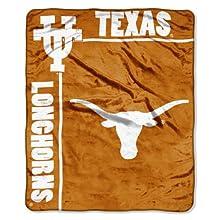 "NCAA Texas Longhorns 50-Inch-by-60-Inch Raschel Plush Throw ""School Spirit"" Design"