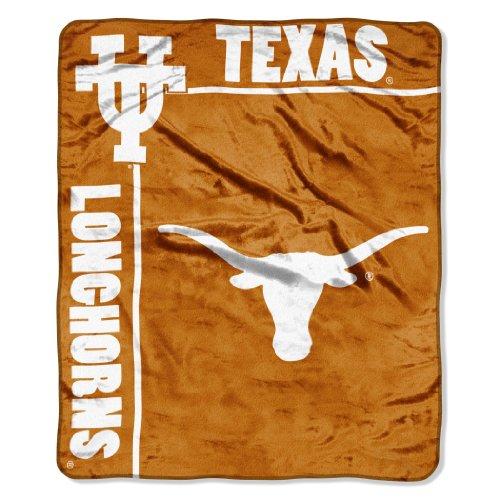 Officially Licensed NCAA Texas Longhorns School Spirit Plush Raschel Throw Blanket, 50