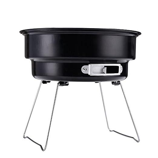 HomJo Barbacoa grill Ice Bag Barbacoa Grill portátil forma redonda esmalte camping barbacoa al aire libre BBQ 3--5 Personas: Amazon.es: Hogar