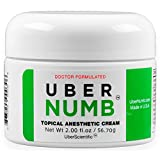 UberNumb (2.0oz / 56.7g) 5% Lidocaine , Pain Relief Cream, Lidocaine Ointment, Numbing Cream, Made in USA