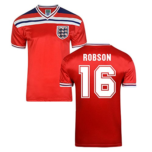 - Score Draw England World Cup 1982 Away Shirt (Robson 16)