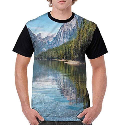 Vintage T-Shirt,McDonald Lake Woods America Fashion Personality ()