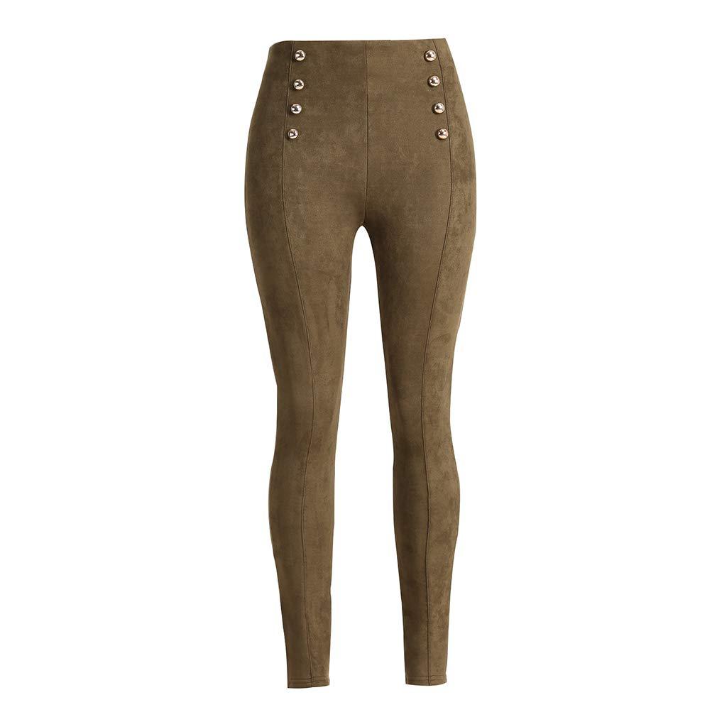 d889c9eaab7 Leggings de Mujer - Pantalones Slim Fit Cintura Alta Sexy Color Sólido  Pantalón - Flacos Casuales de Lápiz Pantalones para Mujer - 6 Colores S, M,  L, XL: ...